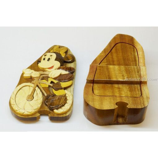 Intarsia wooden puzzle boxes 43b