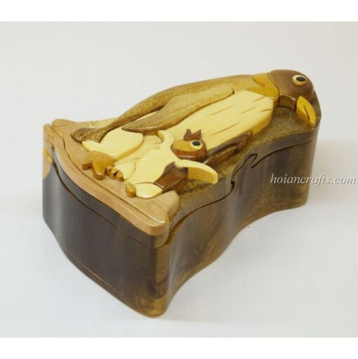 Intarsia wooden puzzle boxes 44
