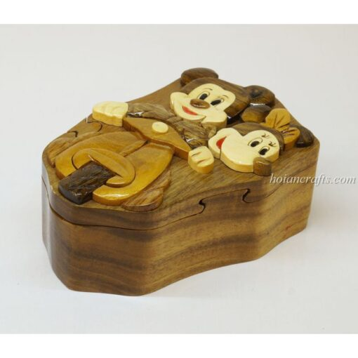 Intarsia wooden puzzle boxes 45