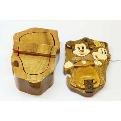 Intarsia wooden puzzle boxes 45b