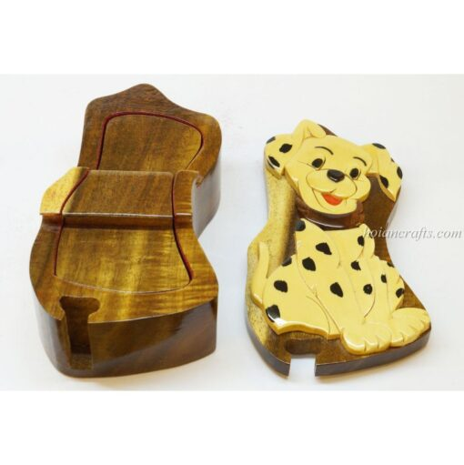 Intarsia wooden puzzle boxes 46b