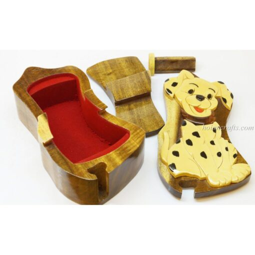 Intarsia wooden puzzle boxes 46c