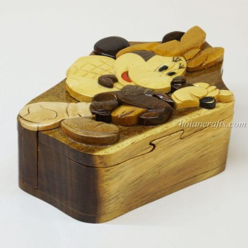 Intarsia wooden puzzle boxes 47