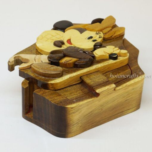 Intarsia wooden puzzle boxes 47a