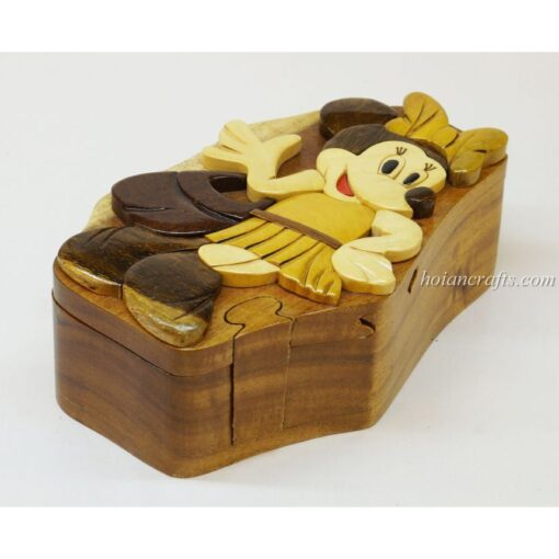 Intarsia wooden puzzle boxes 48