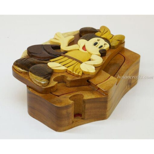 Intarsia wooden puzzle boxes 48a