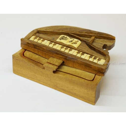 Intarsia wooden puzzle boxes 50a