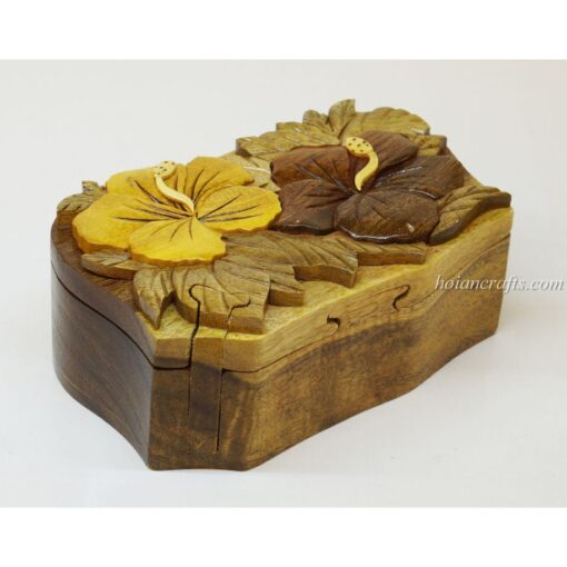 Intarsia wooden puzzle boxes 51