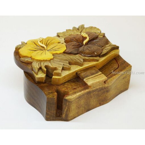 Intarsia wooden puzzle boxes 51a