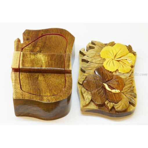 Intarsia wooden puzzle boxes 51b