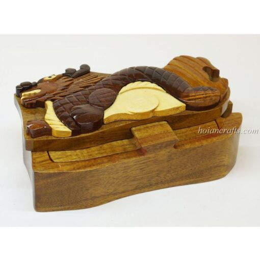 Intarsia wooden puzzle boxes 52a