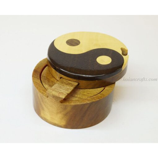 Intarsia wooden puzzle boxes 53a