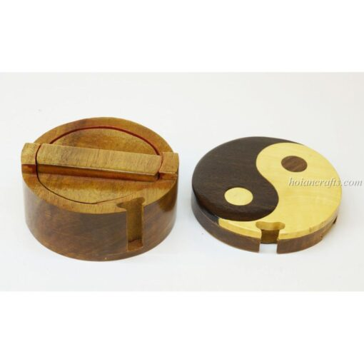 Intarsia wooden puzzle boxes 53b