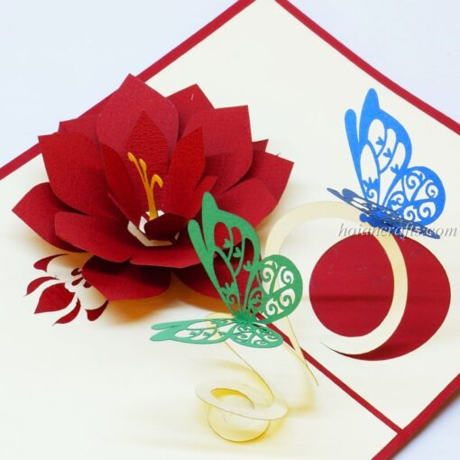 Pop up flower cards 25