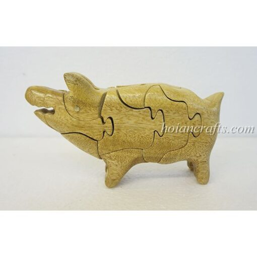 wood puzzles Pig
