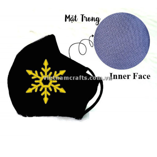 Buy Wholesale christmas embroidery face mask snowflake supplier vietnam 07