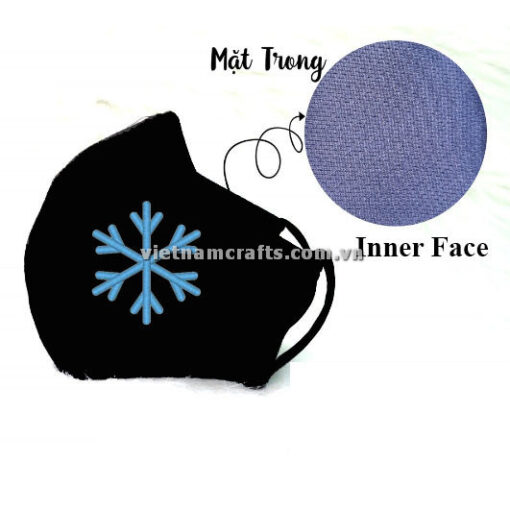 Buy Wholesale christmas embroidery face mask snowflake supplier vietnam 08