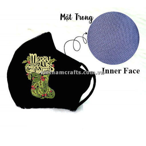 Buy Wholesale christmas embroidery face mask snowflake supplier vietnam 09