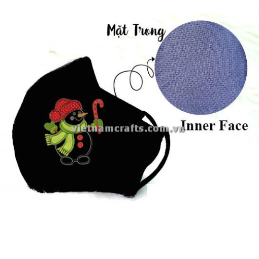 Buy Wholesale christmas embroidery face mask snowman supplier vietnam 10