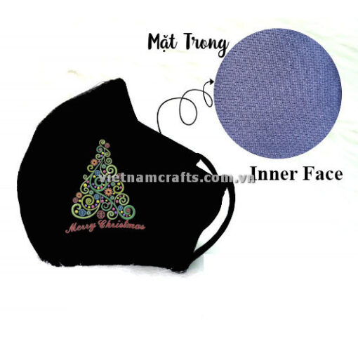 Buy Wholesale christmas embroidery face mask supplier vietnam 03