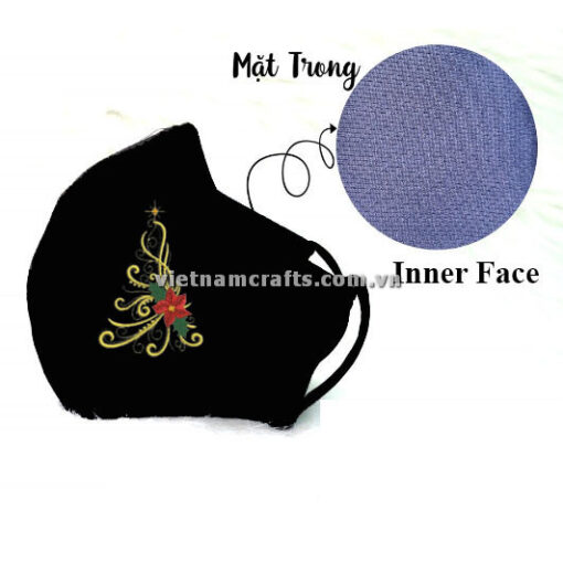 Buy Wholesale christmas embroidery face mask supplier vietnam 16