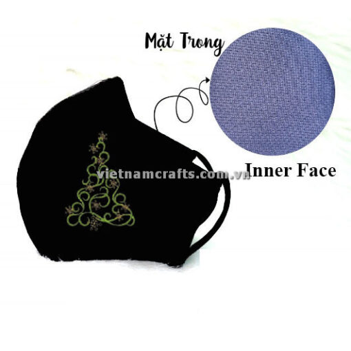 Buy Wholesale christmas embroidery face mask supplier vietnam christmas Tree17