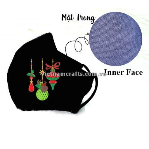 Buy Wholesale christmas embroidery face mask supplier vietnam christmas ornaments14