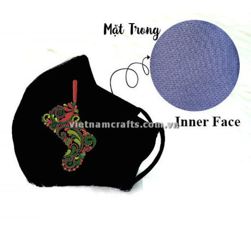 Buy Wholesale christmas embroidery face mask supplier vietnam santa boots13