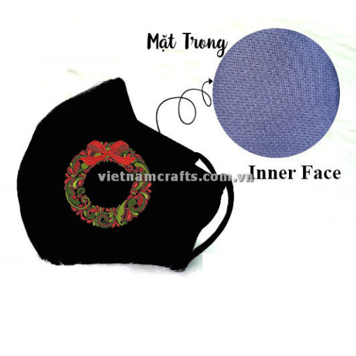 Buy Wholesale christmas embroidery face mask wreath supplier vietnam 11