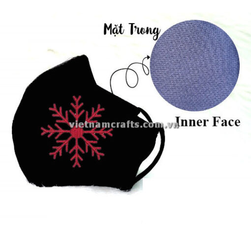Buy Wholeslae christmas embroidery face mask snowflake supplier vietnam 05