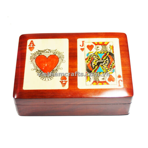 Double Deck Playing Cards Box Ace and Jack of Hearts (1)