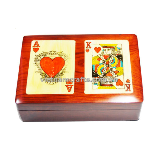 Double Deck Playing Cards Box Ace and King of Hearts (1)