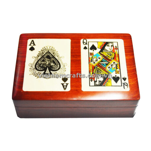 Double Deck Playing Cards Box Ace and Queen of Clubs (2)