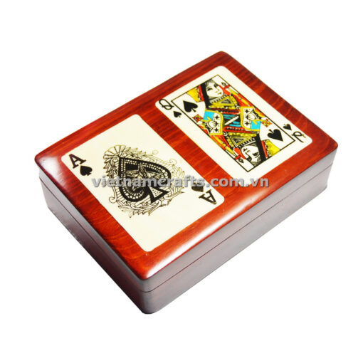 Double Deck Playing Cards Box Ace and Queen of Clubs (3)