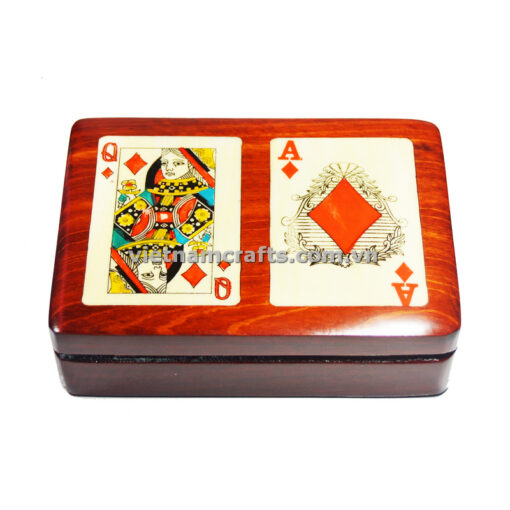 Double Deck Playing Cards Box Ace and Queen of Diamonds (1)