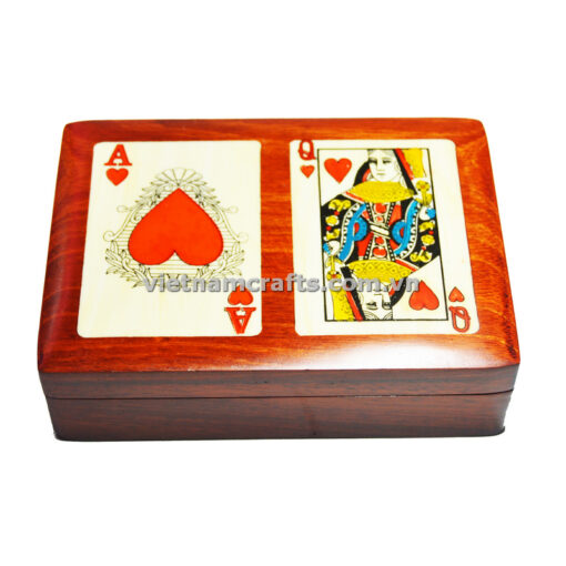 Double Deck Playing Cards Box Ace and Queen of Hearts (1)