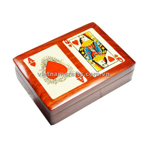 Double Deck Playing Cards Box Ace and Queen of Hearts (2)