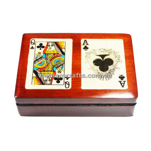 Double Deck Playing Cards Box Ace and Queen of Spades (1)