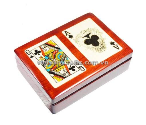 Double Deck Playing Cards Box Ace and Queen of Spades (2)