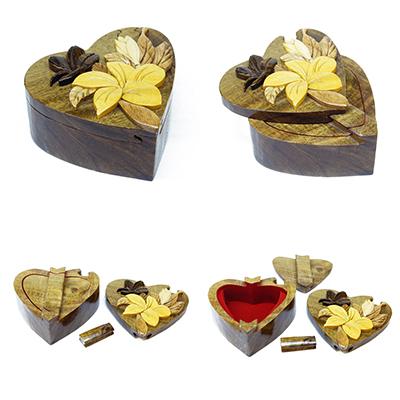 Intarsia Wooden Puzzle Box