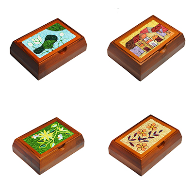Bamboo Quilling Card Box