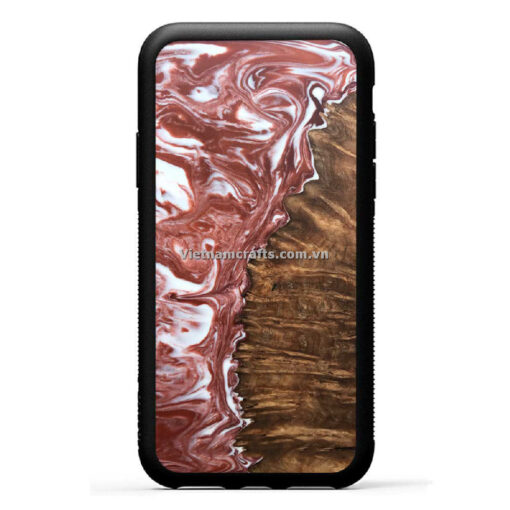 Wholesale Vietnam Handmade Wooden Resin Phone Case Cover Expresso copy