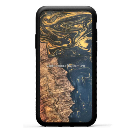 Wholesale Vietnam Handmade Wooden Resin Phone Case Cover Gold Stream Classic copy