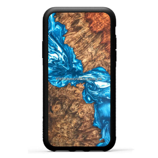 Wholesale Vietnam Handmade Wooden Resin Phone Case Cover Ice River copy