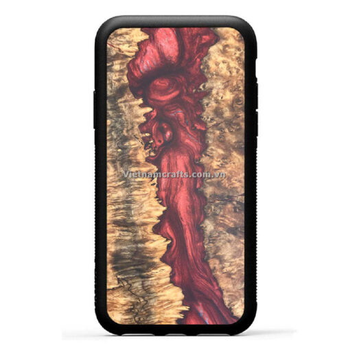 Wholesale Vietnam Handmade Wooden Resin Phone Case Cover Red River copy