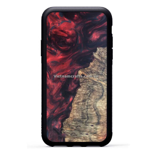 Wholesale Vietnam Handmade Wooden Resin Phone Case Cover Thuy Trieu Do copy