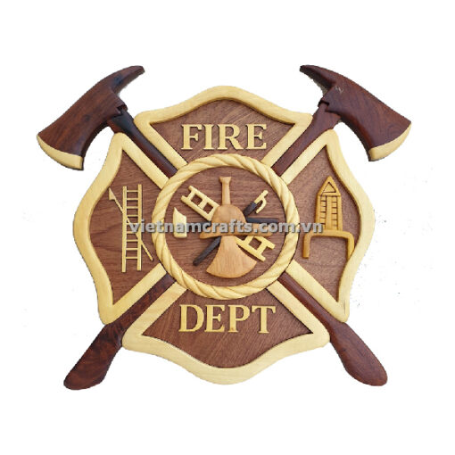 wholesale intarsia wood art USA Plauge Marine Army Navy Coast Guard Fire Dept Plauge Sign Wall Hanger (2)