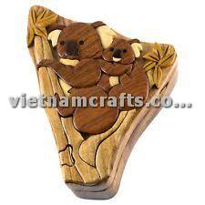 Intarsia wood art wholesale Secret Wooden puzzle box manufacture Handcrafted wooden supplier made in Vietnam Puzzle Box