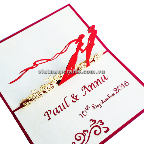 CU02 Buy Custom 3d Pop Up Greeting Cards Congratulations day 3d Foldable Personalized Wedding Pop Up Card (1)