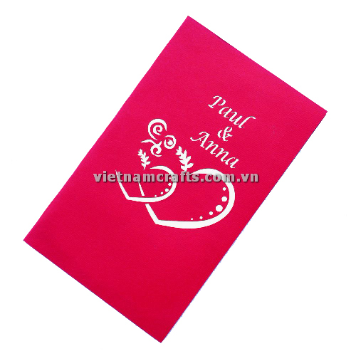 CU02 Buy Custom 3d Pop Up Greeting Cards Congratulations day 3d Foldable Personalized Wedding Pop Up Card (2)